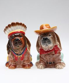 Another great find on #zulily! Indian Dog Salt & Pepper Shakers #zulilyfinds