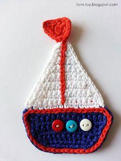 Crochet nautical applique