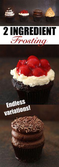 The best part? It tastes AMAZING! #frosting #iambaker #cake #cupcakes