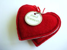 Pocket Hand Warmers RED HOT HEARTS - use felted wool or scraps of polar fleece. Filled with rice. Pop into the microwave for 25 seconds and put them into your pockets to keep hands warm up to an hour! Pocket Hand Warmers, Recycled Sweaters, Wool Sweaters, Rice Bags, Wool Felt, Felted Wool, Heart For Kids, Felt Hearts, Polar Fleece