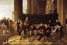 Em um dia como hoje, em 15 de outubro de 1836, nascia o artista francês James Tissot.   James Jacques Joseph Tissot (15 outubro de 1836 - 8 de agosto de 1902) foi um pintor francês, que passou boa parte de sua carreira na Grã-Bretanha.   Tissot expôs no Salão de Paris pela primeira vez em 1859, onde ele mostrou cinco pinturas de cenas da Idade Média, muitas cenas que descrevem de Fausto, de Goethe.   Estes trabalhos mostram a influência do pintor belga Henri Leys (Jan Hendrik Leys agosto)…