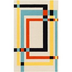 Add architectural detail and beauty to your home by choosing this Artistic Weavers Amenia Cream Area Rug. Contemporary Area Rugs, Modern Rugs, Quilt Modern, Modern Decor, Geometric Art, Geometric Designs, Geometric Patterns, Patchwork Quilt, Plakat Design