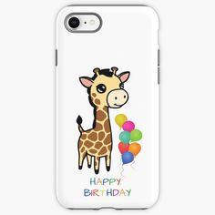 """Cute baby giraffe happy birthday"" iPhone Case & Cover by jakezbontar | Redbubble Giraffe Happy Birthday, Iphone Case Covers, Iphone 11, Cute Babies, Mini, Prints, Baby, Baby Humor, Infant"