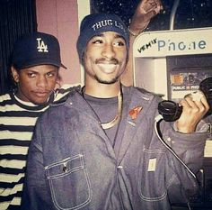 Tupac Shakur and Eazy-E