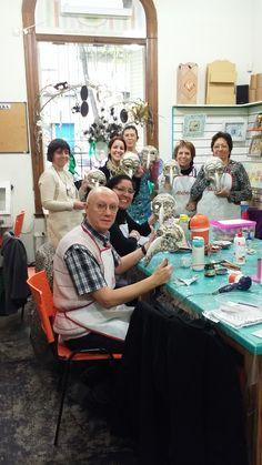 Seminario de Mascaras venecianas en el taller de Vanesa Pena