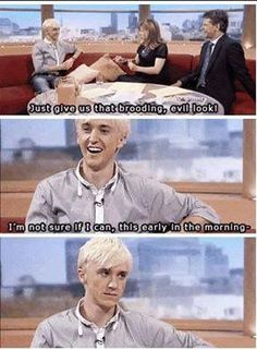 Tom Felton as Draco Malfoy Draco Harry Potter, Harry Potter Characters, Harry Potter World, Draco Malfoy Memes, Drarry, Dramione, Hogwarts, Slytherin, Tom Felton