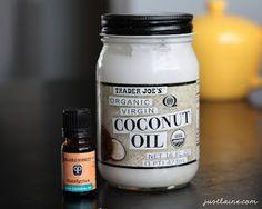 Coconut oil + eucalyptus oil = homemade Vaporub, minus the petroleum. Via it's just Laine: My Favorite {Simple} Cough and Cold Remedies