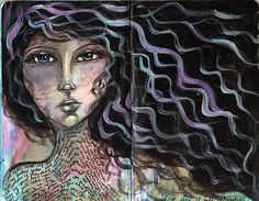 Amazing art that speaks louder than words Mixed Media Faces, Mixed Media Art, Art Journal Pages, Art Journals, Art Journal Inspiration, Painting Inspiration, Fashion Illustration Hair, Art Journal Techniques, Inspiring Women