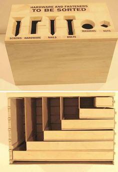 Neat sorting box for screws, nuts & bolts, etc.