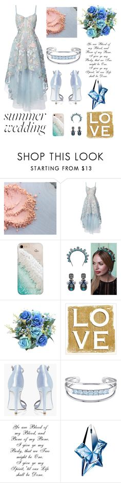 """""""sky blue love"""" by chicatory ❤ liked on Polyvore featuring Notte by Marchesa, Gray Malin, Boohoo, Catherine Malandrino, Thierry Mugler and summerwedding"""