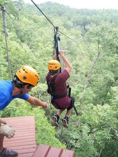 In the Smoky Mountains! Let's do it!!! Ziplines are great fun for the family.  #ziplines #familyfun #Smokymountains