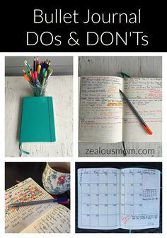 Creative Organization: Bullet Journal DOs and DON'Ts Planner Ideas - Zealous Mom Bullet Journal Inspo, Bullet Journal How To Start A, Bullet Journals, Art Journals, Junk Journal, Goal Journal, Journal Diary, Bujo, Journal Layout