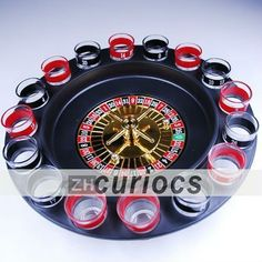 Shot Glass Roulette Drinking 16 Set Party Adults Game Spin Spinning Wheel Casino drink casino spin $25.99