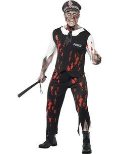 Fancy Dress - Zombie Policeman Costume