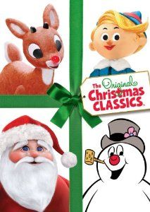 Movies:The Original Christmas Classics - Rudolph the Red-Nosed Reindeer, Santa Claus is Comin' to Town, Frosty the Snowman, Frosty Returns, (this DVD also includes Mr. Magoos Christmas Carol, The Little Drummer Boy & Cricket on the Hearth)