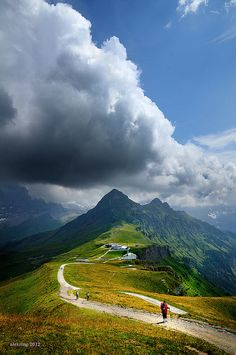 Männlichen, Berner Oberland, Switzerland. A beautiful place I'd like to visit again.