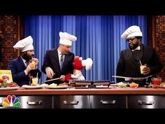 Jimmy Fallon had a very special cooking segment on Thursday's Tonight Show.