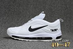 Dazzling off white x nike air max 97 kpu white black men's running shoes sneakers Nike Air Shoes, Nike Air Vapormax, Men's Shoes, Best Sneakers, Air Max Sneakers, Sneakers Nike, Air Max 97, Nike 2017, Nike Air Max White