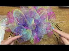 Wonderful Wreaths: How To Make A Poof/Pouf Style Wreath With Dollar Tree. Wonderful Wreaths: How To Make A Poof/Pouf Style Wreath With Dollar Tree. Mesh Ribbon Wreaths, Deco Mesh Wreaths, Floral Wreaths, Sunflower Wreaths, Deco Mesh Crafts, Wreath Crafts, Diy Wreath, Wreath Ideas, Wreath Burlap