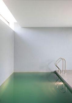 Indoor pool, M Drongen project in Belgium by Govaert & Vanhoutte _