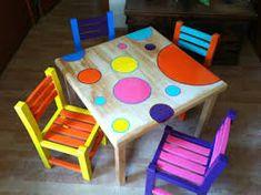 Resultado de imagen para sillas para niños pintadas