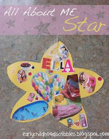 Early Childhood Scribbles: All About Me Star, Poem, and Portfolio Page!