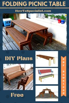 Folding bench picnic table plans pdf