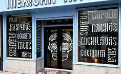 craig black design brands chido mexican restaurant in scotland Mexican Restaurant Design, Taco Restaurant, Restaurant Signage, Mexican Restaurants, Door Design, Exterior Design, Interior And Exterior, Signage Design, Branding Design