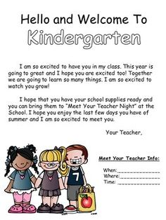 Student Welcome Letter (can be editied) Back to school letter for students Student Welcome Letters, Welcome To Kindergarten, Letter To Yourself, Teacher Binder, School Teacher, I Hope You, Back To School, Homeschool, Presentation