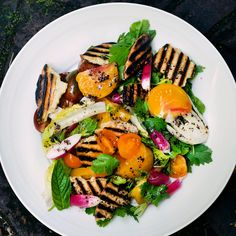 Nigel Slater's al fresco summer recipes   inc. tomato flatbread salad (above), poussin with runner beans, goat's cheese with bacon and honey, photography by Jonathan Lovekin for The Observer