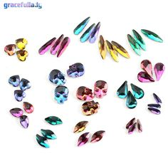 20pcs Flame Series Glass Rhinestones Charm 3D Nail Art Decorations Glue On Flatback Nails Rhinestone Supplies