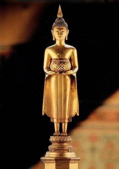 Standing Buddha Statue, Buddha Art, Classical Art, Thailand, Sculpture, Artwork, Beautiful, Lord, Night