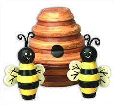 Bees and Hive Outdoor Decor
