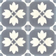 Collection StoneWash - décors 4 carreaux - Carreau TREFFLE SW 33.10 - Couleurs Matières