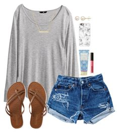 """""""had an awesome time @ youth-read d"""" by madixoxo21 ❤ liked on Polyvore featuring H&M, Levi's, Aéropostale, Vera Bradley, LORAC, Casetify, Moon and Lola, Honora, women's clothing and women"""