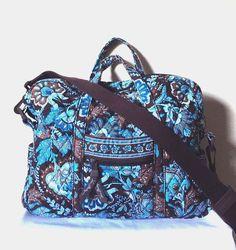 Vera Bradley Womens Blue Java Weekender Handbag Carry On Shoulder Bag  Retired #VeraBradley #ShoulderBag
