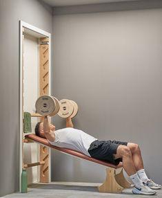 Home Made Gym, Diy Home Gym, Gym Room At Home, Home Gym Decor, Diy Gym Equipment, No Equipment Workout, Fitness Workouts, At Home Workouts, Small Home Gyms