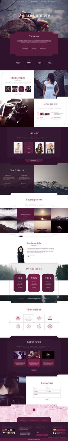 Lumiere Premium Multipurpose #Photography #PSD #Template Download Now