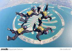 Palm Cumeyra üzerinde skydiving Fotoğraf: Daniel Jacobs