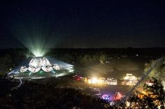 Ozora festival at night. August 2012