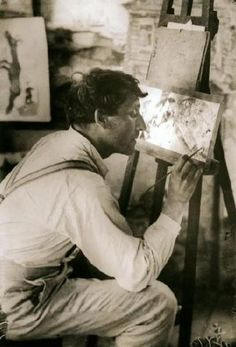 "Russian artist, Marc Chagall ~ ""Only love interests me, and I am only in contact with things I love."" (Brooklyn Bistro Petit via M.A. Wakeley)"