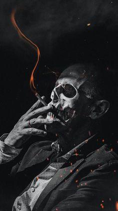 Skull Wallpaper Iphone, Smoke Wallpaper, Dark Wallpaper, Dark Artwork, Skull Artwork, Wallpaper Caveira, Theme Tattoo, Grim Reaper Art, Skull Reference