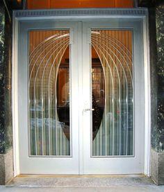 Art Deco Door, 200 West 86th Street, Manhattan, NYC