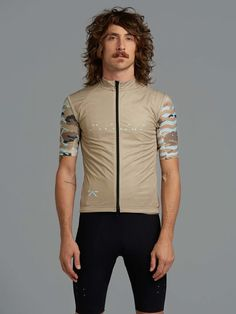 1e4e06cd1 WildCAMO   Windcheater Gilet - Tan. Cycling JerseysCycling  OutfitGeometryDesertsBicyclePostresBikeDessertsBicycling