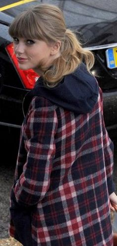 i don't particularly care about taylor swift, but i do particularly care about that plaid jacket.