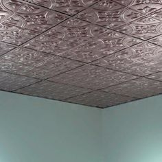 Tin ceiling tiles instead of the basic drop ceiling!! Home Depot