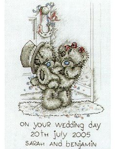 Free Counted Cross Stitch Charts | WEDDING SAMPLER - Tatty Ted