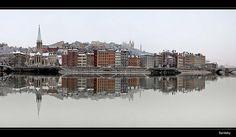 #Lyon sous la neige quai fulchiron en bord de saone (2011) #snow