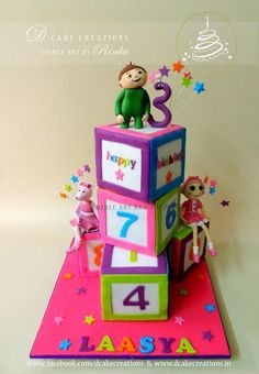 Number Blocks Birthday Cake - Cake by D Cake Creations