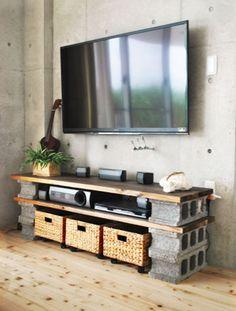 muebles con ladrillos de hormigon - Buscar con Google